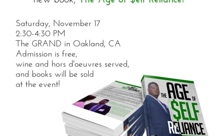 """You're invited to the """"Age of $elf Reliance"""" book launch party!"""